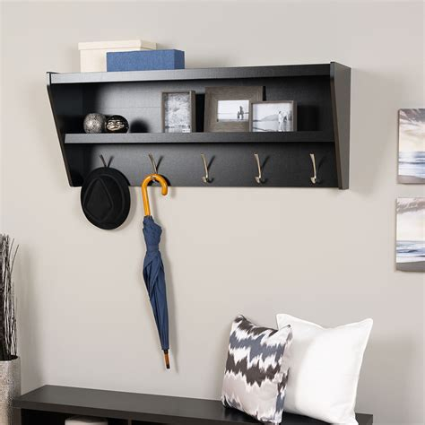 entry way shelf floating coat rack and entryway shelf