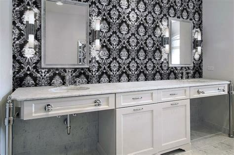 damask bathroom damask tile for bathroom contemporary bathroom
