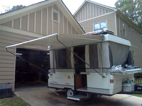 pop up trailer awning awning leg relocation mod pop up cer pinterest