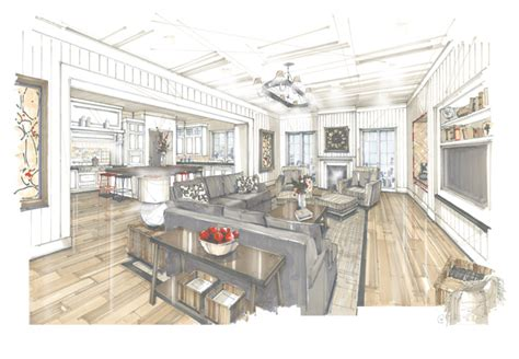 Marker Rendering Interior Design by I Rendering Architectural Rendering Perspective Design