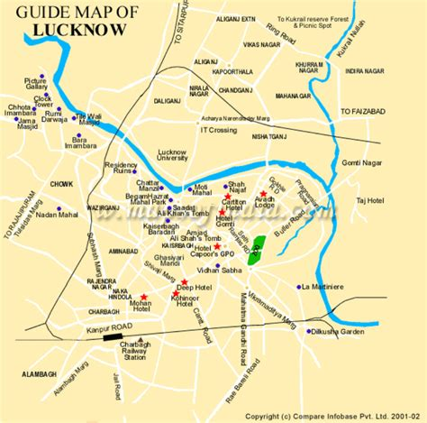 map of lucknow city lucknow map my city lucknow