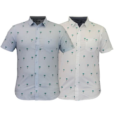 Tshirt Printing Small Palm mens hawaii shirt brave soul palm tree print sleeved summer ebay
