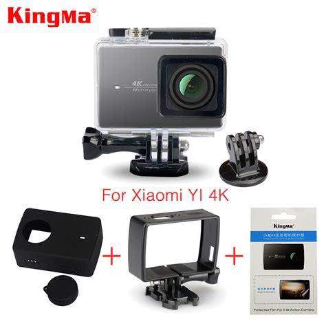 Waterproff Kingma Xiaomi Yicam Actioncamera 1 kingma waterproof frame screen protector silicone lens cover for xiaomi yi 4k