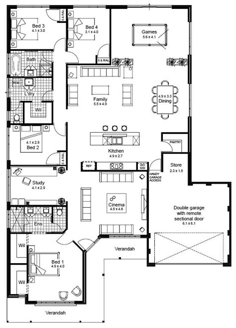 4 Bedroom House Designs Australia The 25 Best Australian House Plans Ideas On Pinterest One Floor House Plans Sims 4 Houses