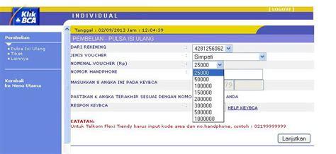 Pulsa Indosat 50000 klikbca individual image collections invitation sle