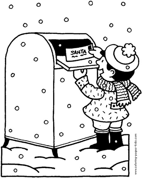 coloring pages letter to santa santa letter coloring page coloring pages ideas reviews