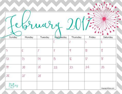 Calendar For Feb 2017 Free 2017 Calendar For You To Print Keeping Sane