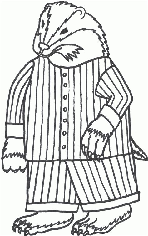 Pajama Coloring Pages