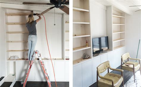 sherman samuel house update diy built in shelving