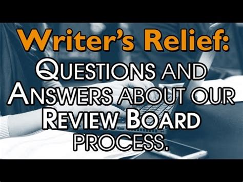writers relief questions  answers   review board process youtube
