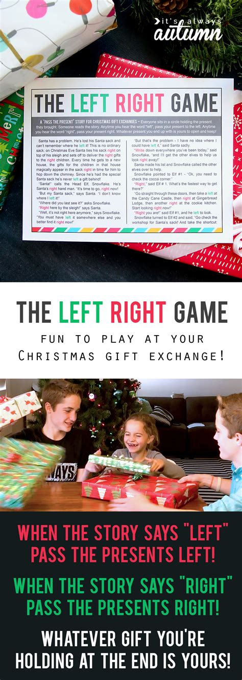 Left Right Printable