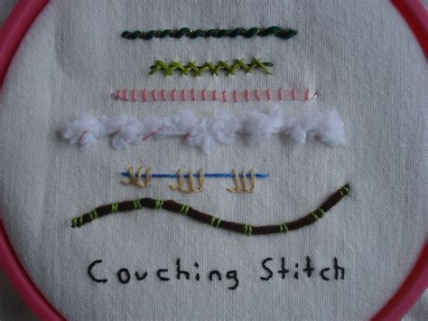 couching stitch week 9 tast couching stitch eclectic lamb