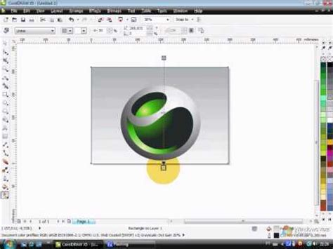 corel draw x5 tutorial logo design corel draw x5 tutorials tamil