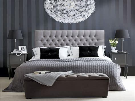 hotel chic bedroom black white  grey bedroom ideas