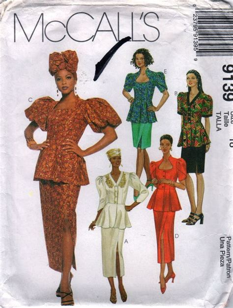 sewing patterns in south africa mccalls 9139 misses african fashion skirt peplum top hat