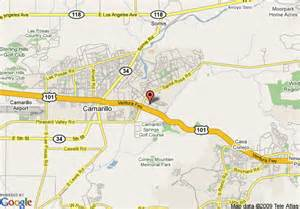where is camarillo california on a map map of courtyard by marriott camarillo camarillo
