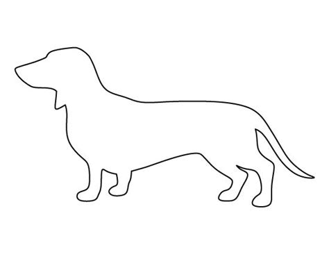 printable dog templates dachshund pattern use the printable outline for crafts