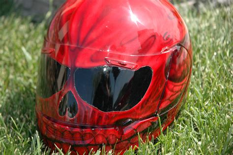Handmade Motorcycle Helmets - custom airbrush paint motorcycle helmets for sale by bad
