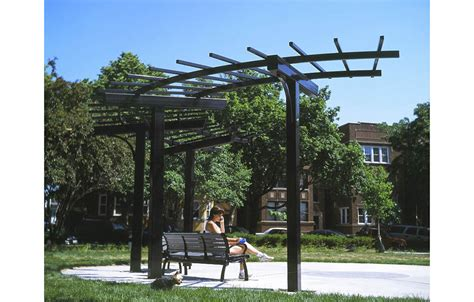 Curved Outdoor Benches Commercial Steel Pergolas Park Coverings Apc Shelters