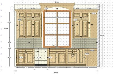 kitchen floor cabinet cabinetry floor plan elevations design layouts to build