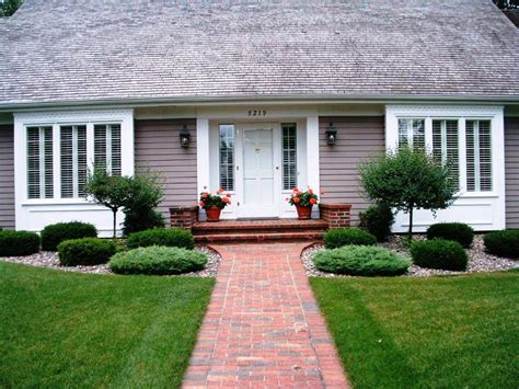 landscaping bushes for front of house ideas landscaping ideas for front of house with walkway pavers and green grass plus