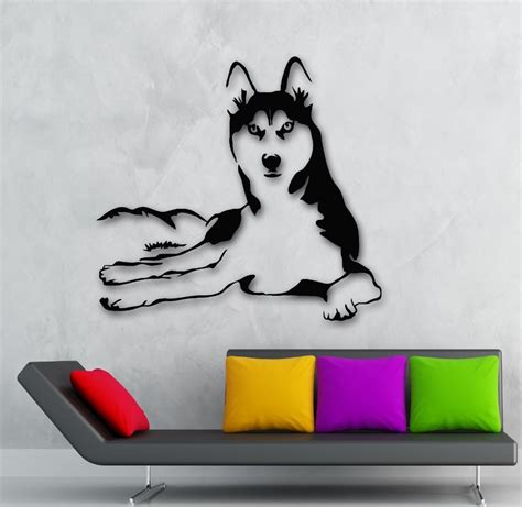 puppy wall decals 2015 new arrival husky animals vinyl decal pets hospital shop window decor glass