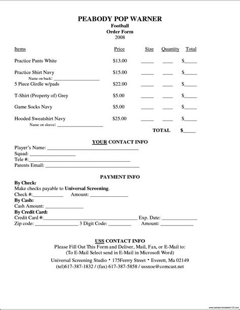 t shirt order form template microsoft word sle sle