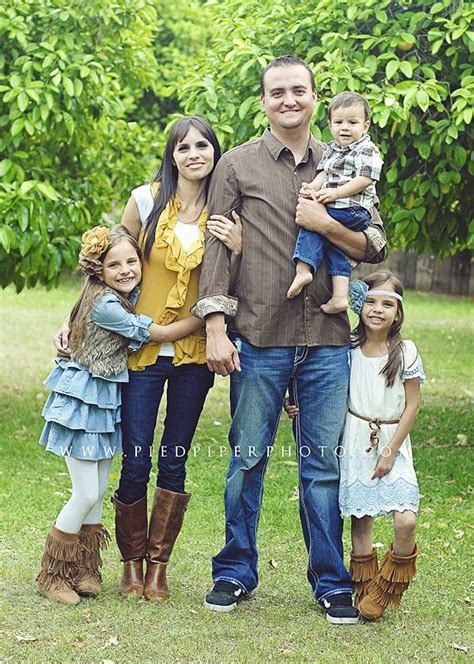 family of 5 photo ideas yellow blue jeans brown and cream clothing ideas for