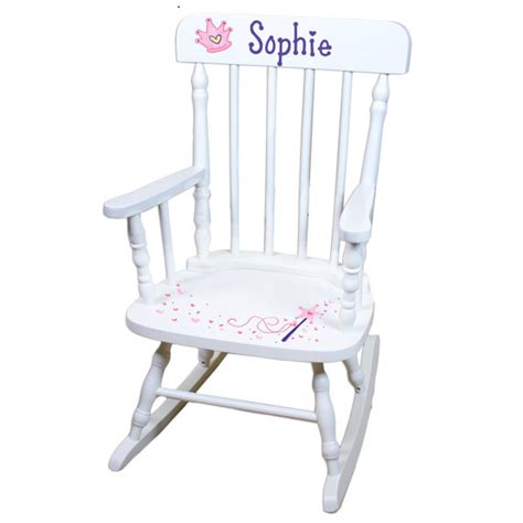 Princess Rocking Chair by Painted Personalized Princess Rocking Chair White Rocker