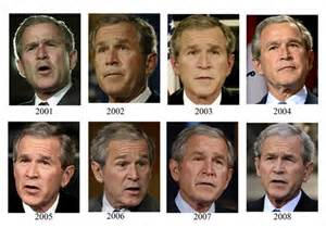 obama hair color bush 2001to2009