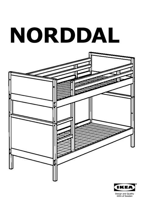 Ikea Norddal Bunk Bed Norddal Bunk Bed Frame Black Brown Ikea Canada