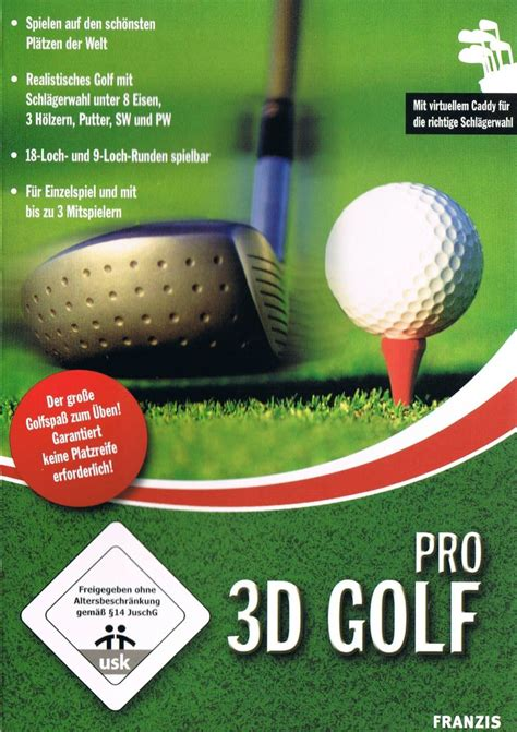 Cover Pro 3d 3d golf pro 2009 windows box cover mobygames