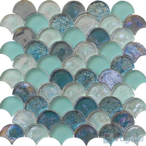 Subway Tile For Kitchen Backsplash fan shape glass mosaic voglus mosaic