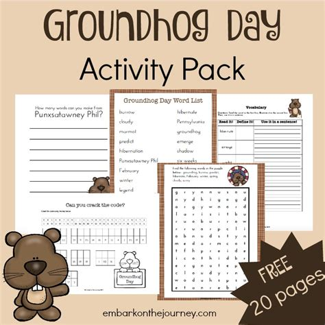 groundhog day you speak free groundhog day activity pack the homeschool