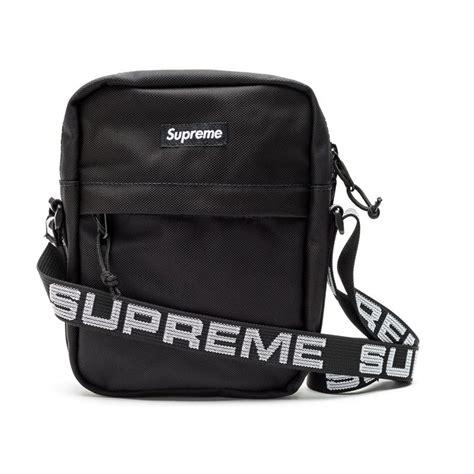 supreme bag supreme shoulder bag black wyco vintage