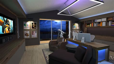 home office with high tech devices plushemisphere residential office on behance