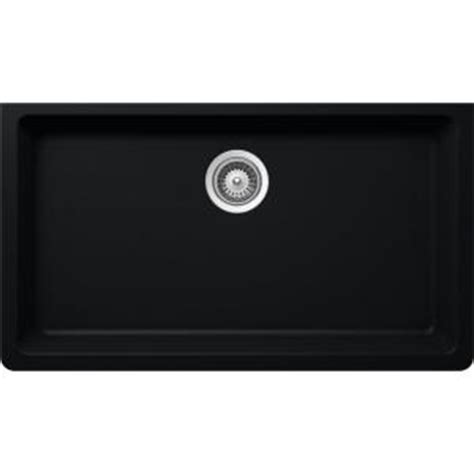 Elkay Elkay By Schock Undermount Quartz Composite 33 In Single Basin Kitchen Sink In Black Elkay Schock Sink Template