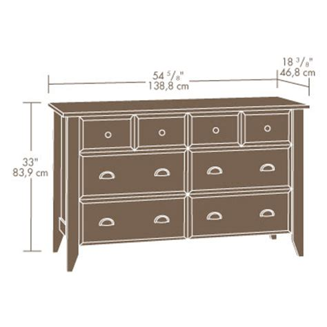 Sauder Shoal Creek 6 Drawer Dresser Oak by Sauder Shoal Creek Dresser Oak 414763