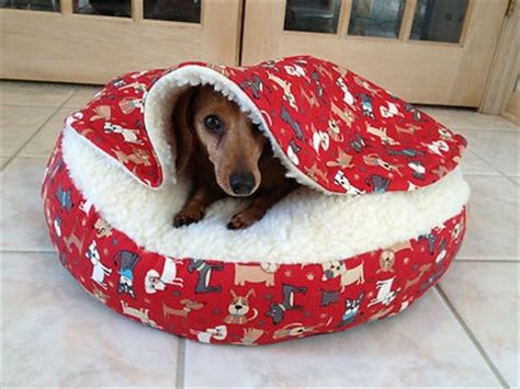 dachshund bed dachshund small dog bed snuggle bed for burrowing dog red