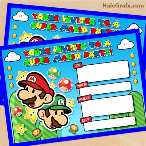 mario birthday card template mario birthday invitations template resume builder