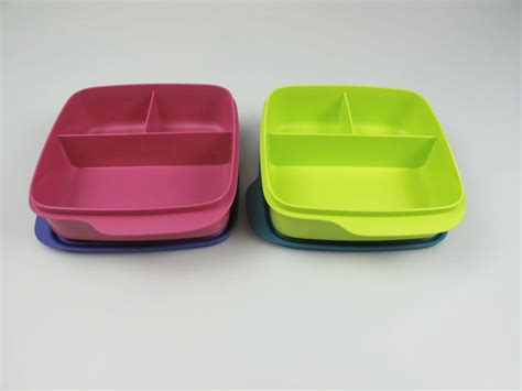 Tupperware Lunch Box Pink tupperware lunchbox beh 228 lter pink lila gr 252 n blau mit