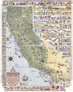 road map of california state california state large