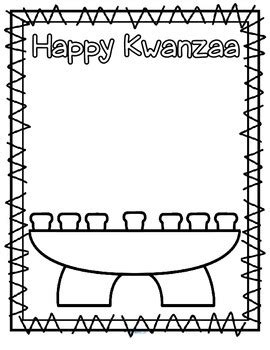 coloring pages for kwanzaa candle holder kwanzaa theme activities and printables for preschool and