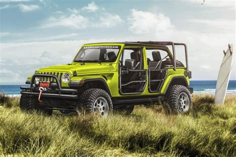 jeep wrangler overland interior jeep concepts target beach cing and apocalypse