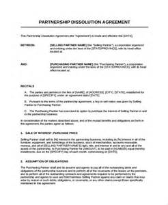 company partnership agreement template sle partnership dissolution agreement templates 7