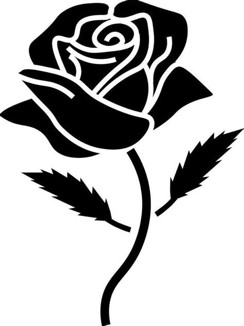 window wall car display retro rose flower silhouette decal