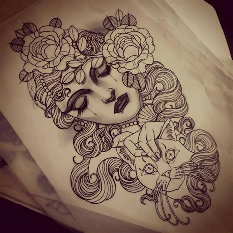 emily rose tattoos artwork by emily murray sketch