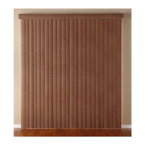 Room Darkening Vertical Blinds Shop Custom Size Now By Levolor Cinnamon Vinyl 3 5 In Slat