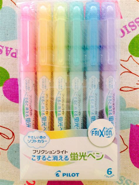 Limited Edition Pilot Frixion Light Highlighter Frixion pilot frixion light soft color erasable highlighter pen 6 color set from pikobeagle2000 on