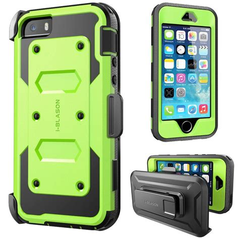 Housing Casing Iphone 5s Model Iphone 7 Silver i blason iphone 5s armorbox series with screen protector and holster green